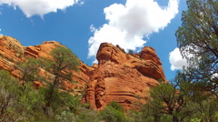 Clouds Over Faye Canyon Walls Low Angle Time Lapse- Sedona AZ Stock Footage