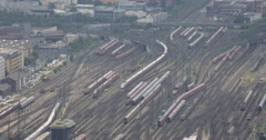Ultra HD 4K Frankfurt Central Station Trains Departing Arrival Busy Commuters Stock Footage