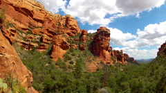 Faye Canyon Walls Wide With Clouds Time Lapse- Sedona AZ Stock Footage