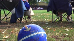 Soccer, football youth, maple leaf Stock Footage