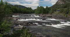 4k, time lapse of buskerud landscape, norway Stock Footage