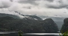 4k, time lapse of eidfjord landscape, norway Stock Footage