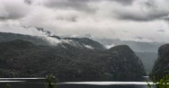 Stock Video Footage of 4k, time lapse of eidfjord landscape, norway