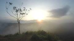 Magical sun rising at Ella Peak, Sri Lanka. Stock Footage