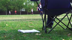 Soccer, football youth, spectator sport - stock footage