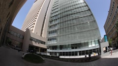 The new Israel Tel Aviv Stock Exchange TASE and Shalom Tower Stock Footage