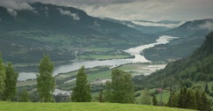4k, time lapse of oppland landscape, norway Stock Footage
