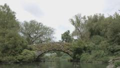 Central Park Bridge.mp4 Stock Footage