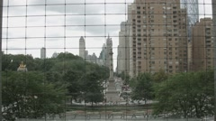 Columbus Circle from inside Time Warner Center Stock Footage
