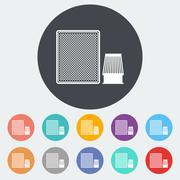 Automotive filter icon. - stock illustration