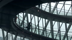 Interior helical staircase of City Hall in London Stock Footage