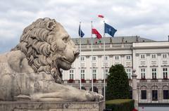 polish presidential palace. - stock photo