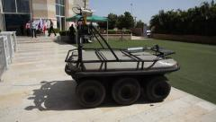 Amstaf  amphibian, unmanned, ground vehicle Stock Footage