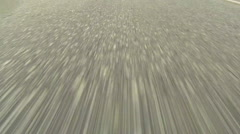 Driving on Highway - Close up view of Asphalt - No 1 Stock Footage
