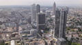Frankfurt Main Aerial View Skyline Corporate Skyscrapers Office Towers Buildings Footage