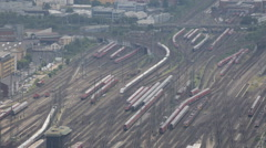 Frankfurt Hauptbahnhof Central Station Trains Departing Arrival Busy Commuters Stock Footage