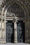 saint vitus cathedral. - stock photo