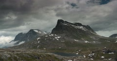 4k, time lapse of trollstigen landscape, norway Stock Footage