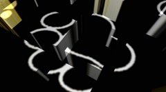 Animal Tracks Cube Array Stock Footage