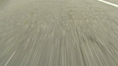Driving on Highway - Close up view of Asphalt - No 6 Stock Footage