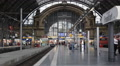 Frankfurt Central Main Station Hauptbahnhof Trains Platform Passenger Wait Walk Footage