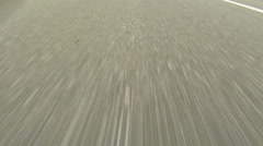 Driving on Highway - Close up view of Asphalt - No 7 Stock Footage