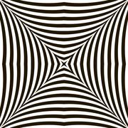 Black and White Geometric Vector Shimmering Optical Illusion Stock Illustration