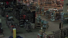 Inside sporting goods recreation gun store 4K 078 Stock Footage