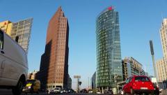 Berlin 4k Traffic at Potsdamer Platz - stock footage