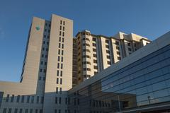 Hospital building Stock Photos