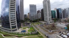 Aerial View from Berrini Avenue in Sao Paulo, Brazil Stock Footage