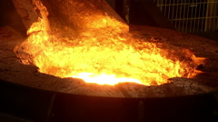 Iron, steel smelting close up Stock Footage