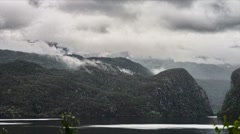 1080p, time lapse of eidfjord landscape, norway Stock Footage