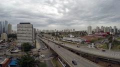 Aerial View from Roberto Marinho Avenue in Sao Paulo, Brazil Stock Footage