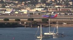 Plane takeoff Stock Footage