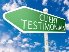 Client testimonials Stock Illustration