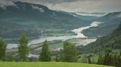 1080p, time lapse of oppland landscape, norway Stock Footage