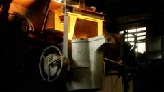Iron, steel smelting Stock Footage