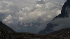 1080p, time lapse of trollstigen landscape, norway Stock Footage