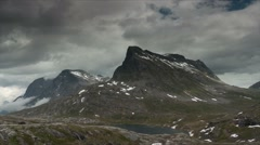 1080p, time lapse of trollstigen landscape, norway Stock Footage