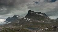 Stock Video Footage of 1080p, time lapse of trollstigen landscape, norway