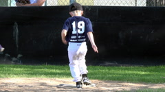 Kids running home t ball baseball game 4K 046 - stock footage