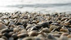 Sea polished rocks closeup Stock Footage