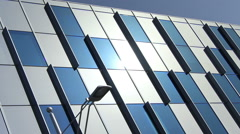 Modern office building glass wall hyperlapse. Abstract architecture background. Stock Footage