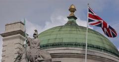 Ultra HD 4K National British Flag Union Jack London England United Kingdom Day Stock Footage