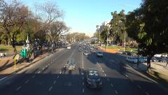 Traffic time-lapse in Buenos Aires, Argentina Stock Footage