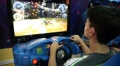 boy playing the race in the entertainment center 3 Footage