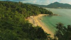 Laem sing beach, phuket island, thailand. view from hill Stock Footage