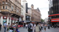Leicester Square Pedestrians Shopping Street Charing Cross Road Cranbourn People HD Footage