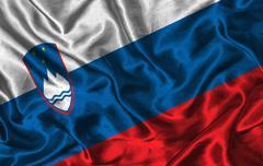 Stock Illustration of silk flag of slovenia